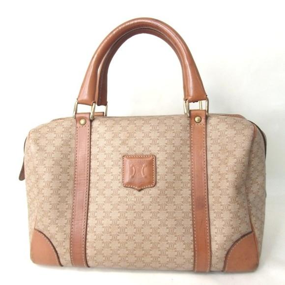 af98471ef111 Celine Handbags - Authentic CELINE Macadam Beige Boston Bag Vintage